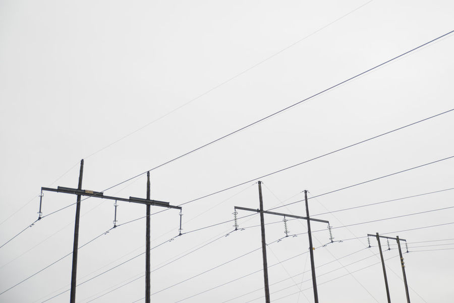 Powerline couples. Cable Electricity  Power Line  Connection Technology Electricity Pylon Power Supply Telephone Line Fuel And Power Generation Day No People Low Angle View Outdoors Parallel Sky Nature