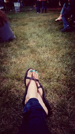 Sitting on the grass waiting for concert to start Outdoor Concerts Pretty Toes Vibrant Colors Summer
