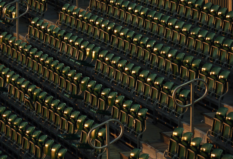 Green Color Stadium Stadium Seating Abundance Backgrounds Bleachers Full Frame High Angle View Illuminated In A Row Large Group Of Objects Metal No People Order Repetition Seating Seats Side By Side Sport Sports Go Higher The Architect - 2018 EyeEm Awards