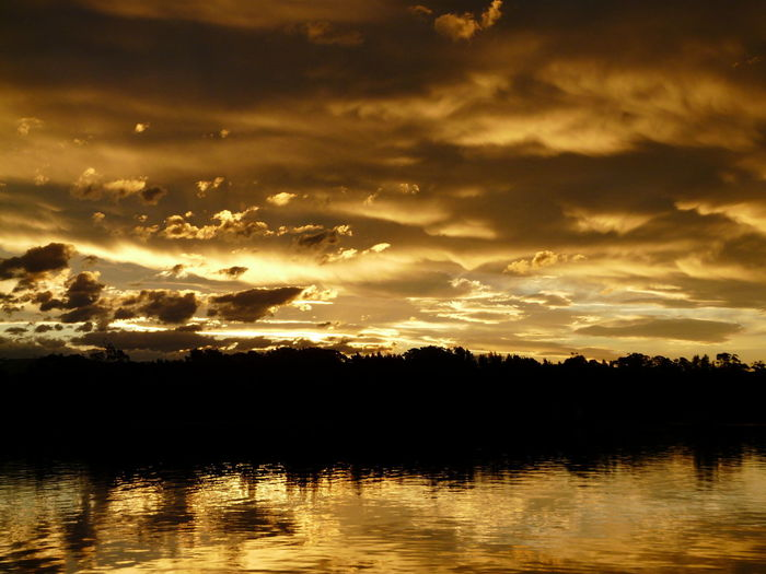 Beauty In Nature Calm Cloud Cloud - Sky Dramatic Sky Idyllic Lake Nature No People Orange Color Outdoors Reflection Rippled Scenics Sky Sun Sunset Sunset Silhouettes Tranquil Scene Tranquility Tuross Lake Water