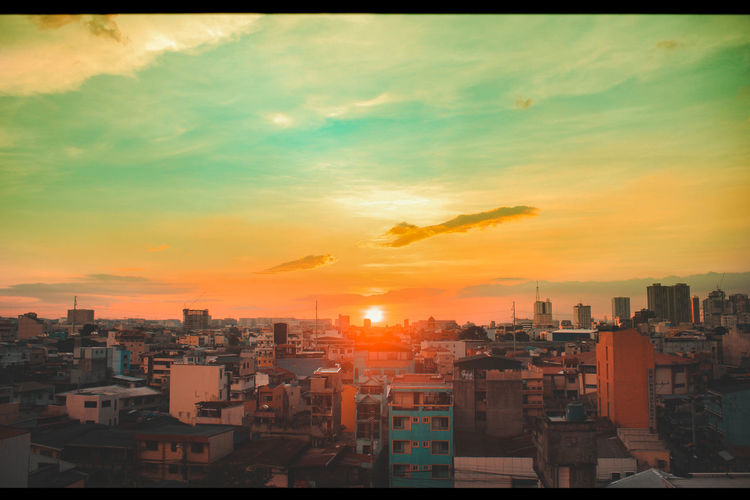 @Philippines @architecture @city @cityscape @streetphotography @sunset Architecture Building Exterior Built Structure City City Life Cityscape Day Modern No People Orange Color Outdoors Sky Skyscraper Sunset Urban Skyline