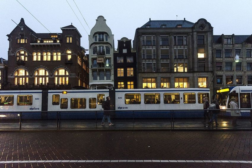 Last train Streetphotography Street Amsterdam Amsterdamcity Tren Train Architecture Built Structure No People
