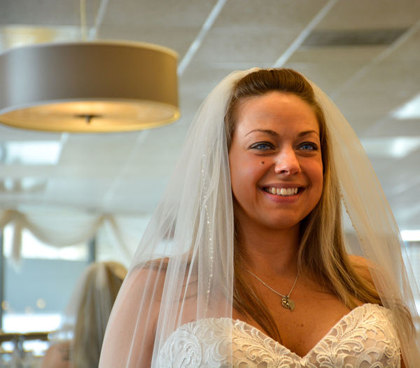 Portrait of smiling young bride