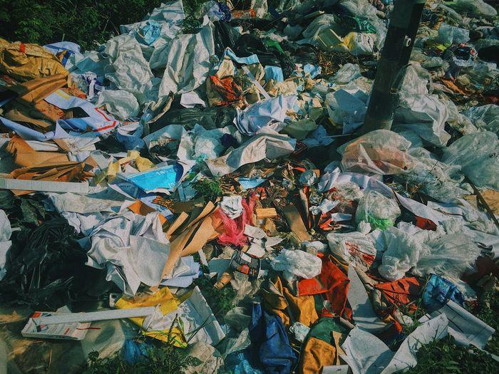 Full frame shot of garbage
