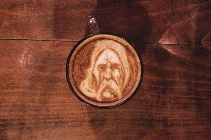 Coffeekesh-My Work Coffeekesh Dadbeh Konjcafe Cafe Coffee Latte Latteart Art ArtWork Portrait Sketch Painting Espresso