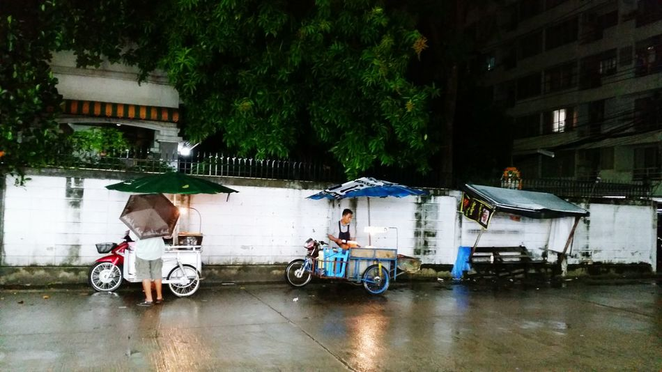 There's not many choices for some people, on a rainy night in a tough city. Way Of Life Nightphotography Bangkok City Life Mobilephotography Streetphotography Bangkok Streetphotography Sidewalk Rain Bangkok Thailand