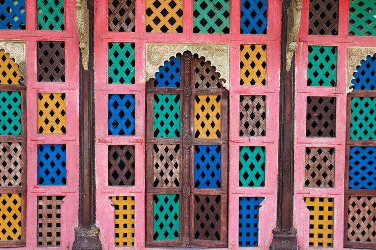 Full frame shot of patterned door