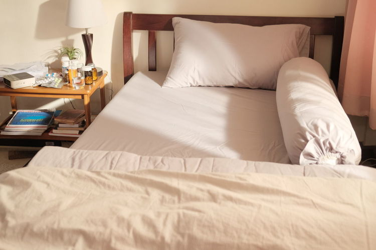 View of bed at home