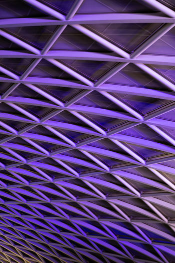 Backgrounds Full Frame Pattern Purple No People Repetition Indoors  Metal Textured  Design Close-up Textile Architecture Built Structure Abstract Day Art And Craft Blue Modern EyeEmNewHere