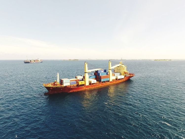 Maldives Nautical Vessel Sea Transportation Water Mode Of Transport Nature Sky Outdoors Scenics Horizon Over Water Day Dji Djiphotography ArealPhotography