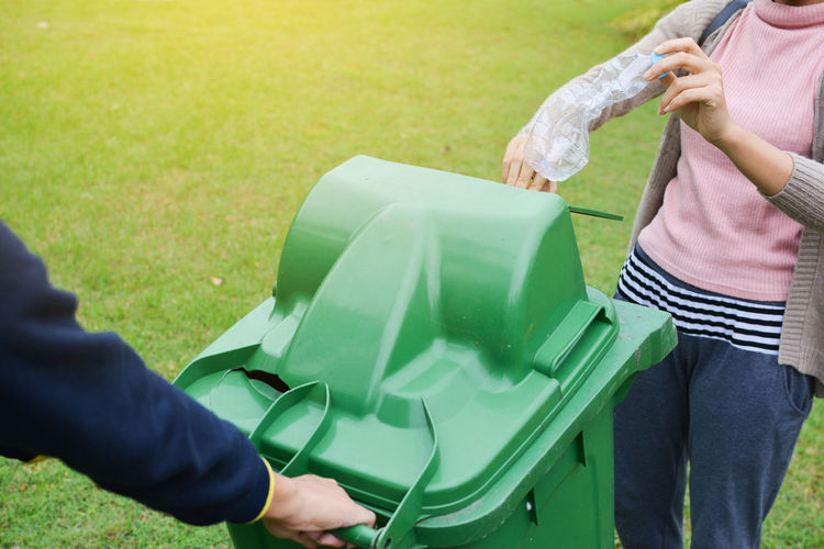 Nature Volunteer Bin Day Environment Garbage Grass Outdoors People Recycle Save