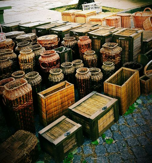 Street market in La Plata, Argentina Large Group Of Objects For Sale Abundance Wicker Arrangement Display Order Full Frame Chests Street Eyeem Photography Outdoors From My Point Of View Containers The Still Life Photographer - 2018 EyeEm Awards