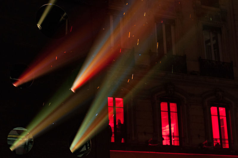 Cinema Look Cinematic Dark Darkness And Light Festival Festival Of Lights Fete Des Lumieres Film Lights Looking To The Other Side Lyon Night Rain Raining Red Silhouette Window