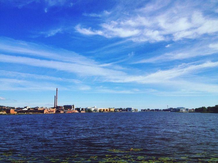 Hello World Munksjön Sommar Foto