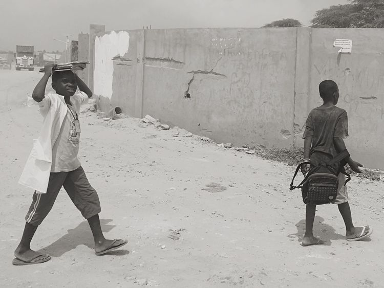 Black & White BlackandwhiteMH Blackandwhitephotography Black And White EyeEm Best Shots - Black + White Blackandwhite Photography Blackandwhite Monochrome Going To School Kids Students Africa Angola