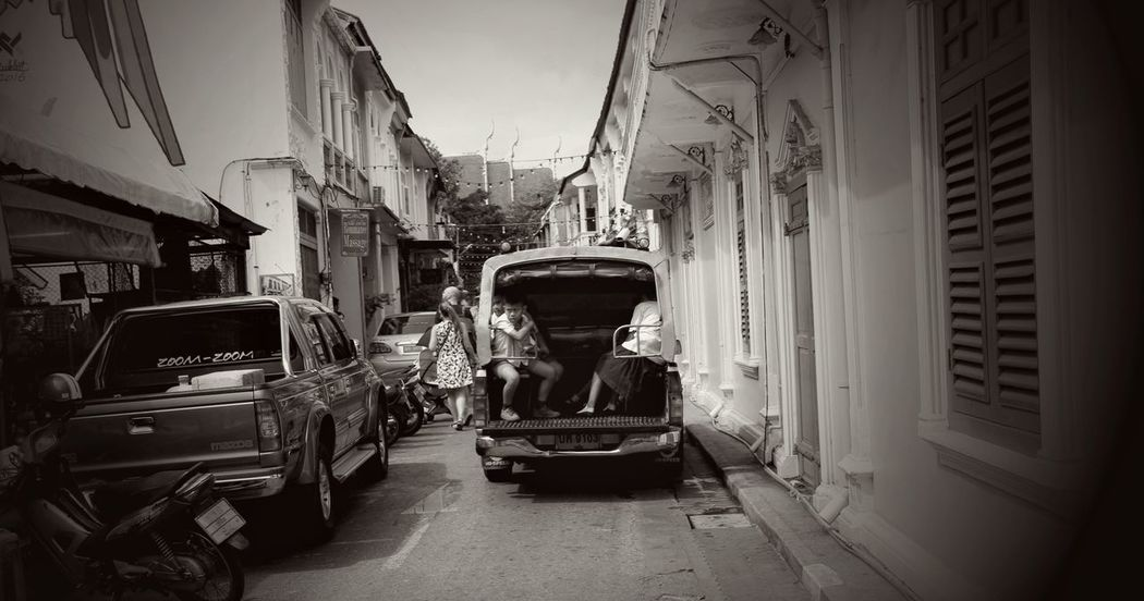 Architecture Built Structure Day Land Vehicle Mode Of Transport No People Outdoors Phuket Old Town Student Transportation