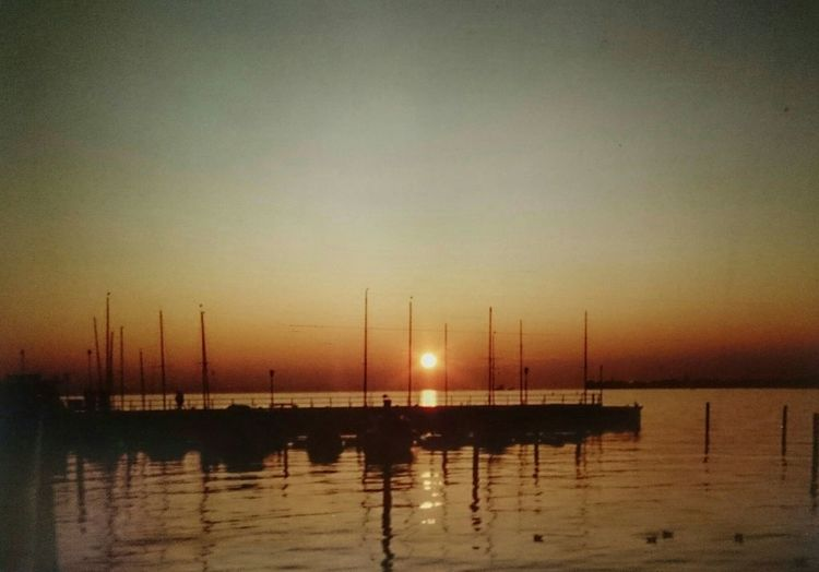 About 20 years ago Sunset Seeufer Sunset Silhouettes Bodensee Lake Constance Lake View Analog Photography Vintage Photo