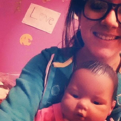 Nevaeh and Mommy!!<3(: Nevaeh HeavenSpelledBackwards Childdevelopment LoveThisBabyAlready ShesTooAdodable MyBaby