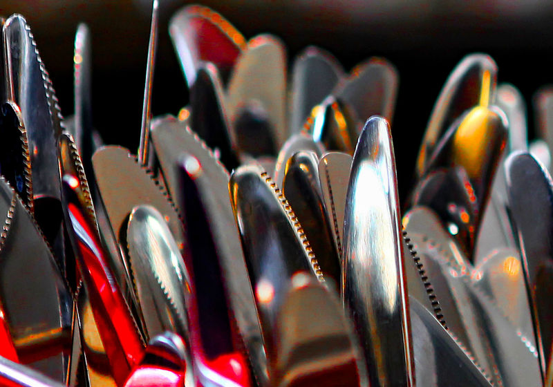 Out to dry Close-up Cutlery Cutlery Set Forks Kitchen Utensils Knives Knives And Forks Metal No People Shiny