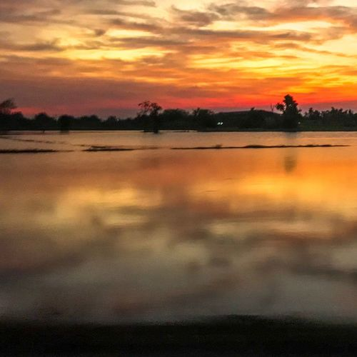 Sunset Sky Cloud - Sky Water Beauty In Nature Orange Color Scenics - Nature Reflection Nature Dramatic Sky