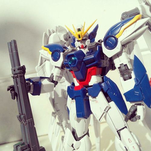 Good morning! Happy weekend and seize the day! 😁😁. CarpeDiem  RG Wingzero Gundam gunpla plamo