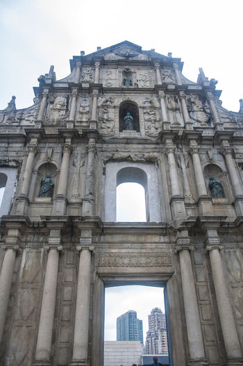 Architecture Bell Tower Cathedral Christian Christianity Church Garrison History Macau Religion Ruins Of St. Paul's Tourist Attraction