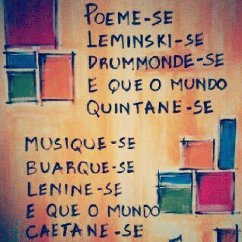 Achei foda demais! =) Poesia Poeta Arte Music Música Cultura Brasil Brazil