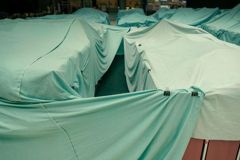 Close-up of tent