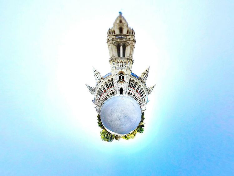 Theta Theta360 Tiny Planet Tinyworld Rathaus Rathauswien Wien Architecture Building Exterior Travel Destinations No People History Outdoors Follow4follow Followme Vienna Österreich Plant Music Panorama Mostaphamerei 360