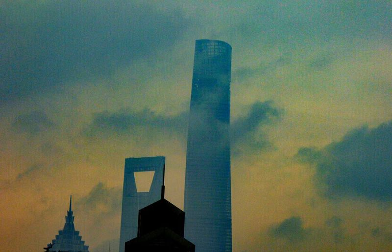 Beautiful Shanghai Shanghai, China Architecture Built Structure Shanghai Shanghai Tower China Sunset Shanghaiskyline Skyscraper Building Exterior The Architect - 2017 EyeEm Awards Connected By Travel