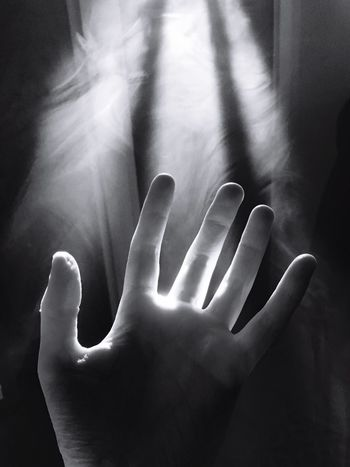 Human Hand Human Body Part Human Finger One Person Palm Smoke Beams Of Light Redemption Christianity Salvation  Indoors  Gesturing Real People Close-up Reaching Day People Adult Religious  Light God Blackandwhite Black And White Friday