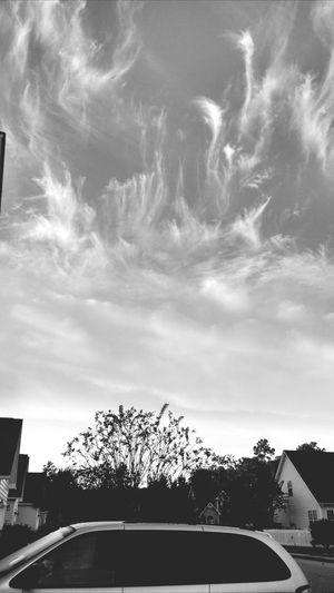 Clouds on fire, black and white. Black And White Clouds Fire Morning