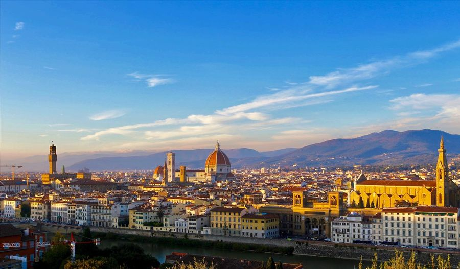 View from the top of Florence Traveling View Day Off Santa Maria Del Fiore Florence Cathedral Italy🇮🇹 Architecture Building Exterior Built Structure City Sky Cityscape Building Cloud - Sky Travel Destinations City Life Urban Skyline Blue Travel