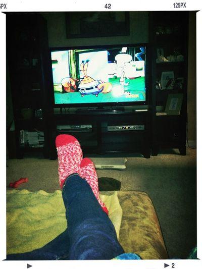 Spongeb And Fuzzy Socks (: