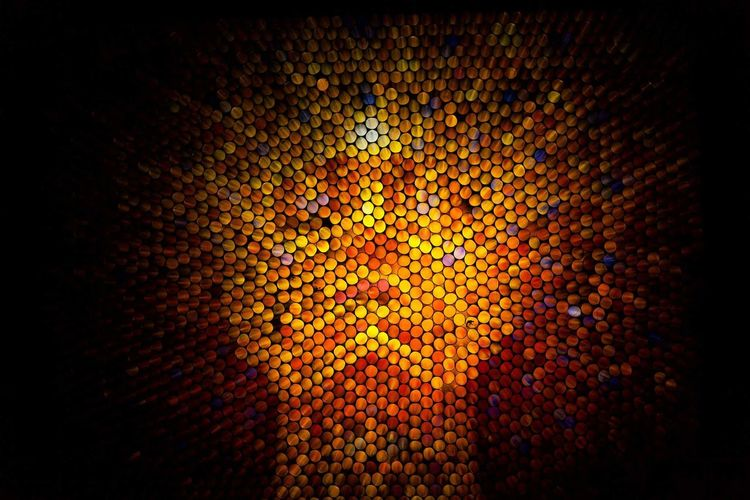 Straw Straw Camera Straw Photography Eye Pixelated Multi Colored Defocused Galaxy Yellow Backgrounds Textured  Full Frame Close-up Mosaic Abstract Backgrounds Visual Creativity