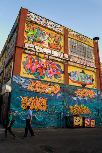 Five Pointz, NYC. Photographed by Cooper Billington. Colors Architecture Art City Five Pointz Graffiti Lifestyles Multi Colored Outdoors Photo Photography Yellow Paint The Town Yellow