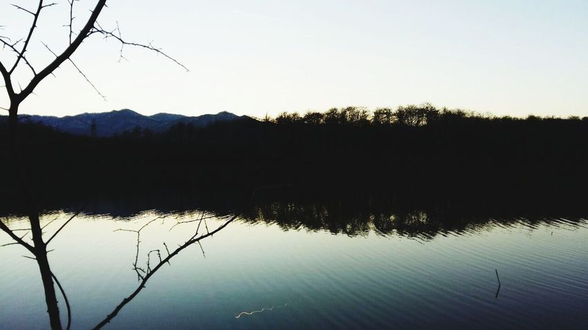 damn😑this lake❤😍 First Eyeem Photo New Eyeem Blue Blue Sky Power In Nature Nature Photography Love Reflection Lake Water Nature Sky Tree Silhouette Outdoors Clear Sky No People Day