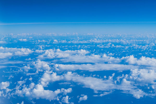 Amazing Atmospheric Mood Backgrounds Beauty In Nature Blue Cloud - Sky From An Airplane Window Full Frame Idyllic Landscapes Nature Outdoors Photography Scenics Sky Sky Only The Natural World Tranquil Scene Tranquility Vibrant Color White Color