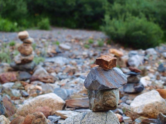 Rock - Object Focus On Foreground Day No People Outdoors Nature Tranquility Tree Beauty In Nature Close-up Rock Stacking
