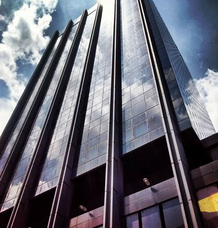 Architecture Low Angle View Sky Built Structure Skyscraper Cloud - Sky Business Finance And Industry Modern Building Exterior Façade Window City Office Day No People Outdoors Politics And Government The Architect - 2017 EyeEm Awards