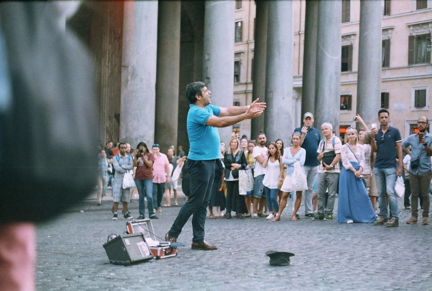 Snap a Stranger Music Real People Performance Arts Culture And Entertainment Large Group Of People Lifestyles People Standing Musician Outdoors Tenor Opéra Rome Italy Street Photography Finding New Frontiers Uniqueness Miles Away Miles Away The Street Photographer - 2017 EyeEm Awards Neighborhood Map Your Ticket To Europe
