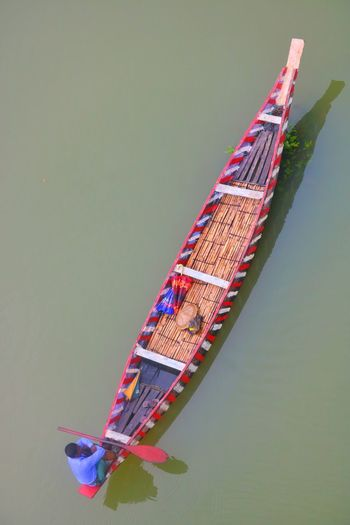 Day Transportation Floating On Water Nature High Angle View Adult Human Body Part Boats Sailing Fisherman