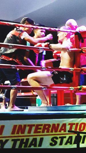Corner Advice Koh Samui MuayThai Thailand Multi Colored Sport Togetherness Competition Men