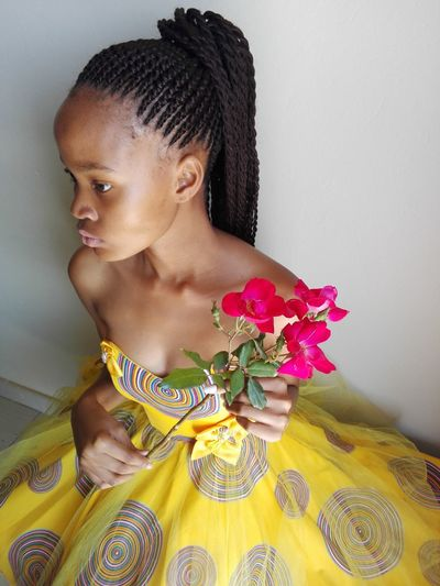 Authority Strong Jawed Flower Beauty One Person Beautiful People Young Adult Arts Culture And Entertainment Beautiful Woman Close-up Indoors  One Young Woman Only Uniqueness