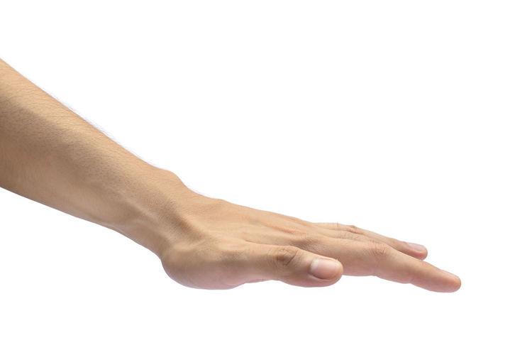 Flat hand down