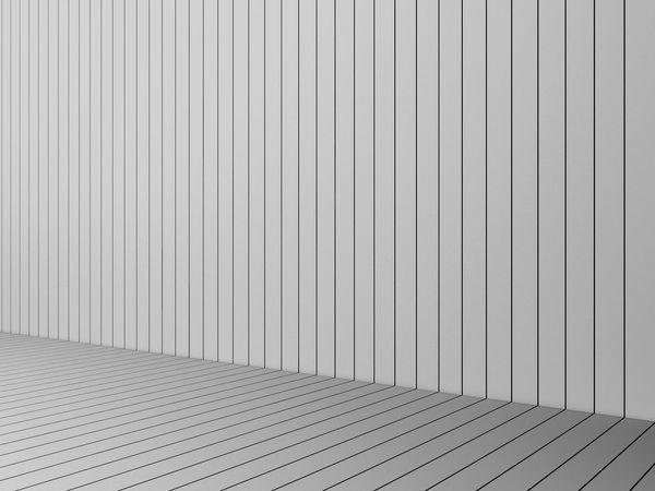 3D Rendering modern white slats wall and floor, interior illustration, mock up Architecture Backgrounds Built Structure Close-up Corner Corrugated Iron Day Indoors  LINE No People Pattern Slats Textured