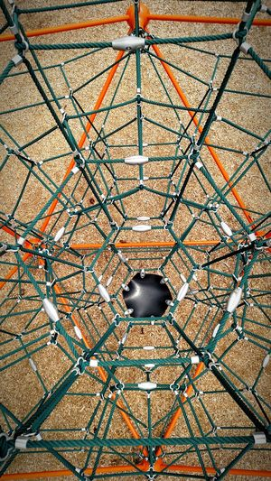 The spiders web Hanging Out Check This Out Taking Photos Enjoying Life Showcase April Relaxing Park Jungle Gym Playground