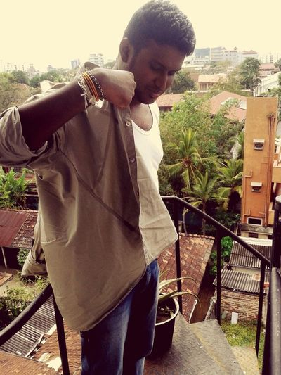 Chane showing his the Gym power in leisure time (to whom is a secret) On A Break Leisure Time SriLanka