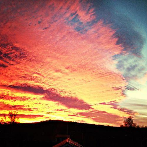 Sunset Beautiful Sky Cloudporn Sweden