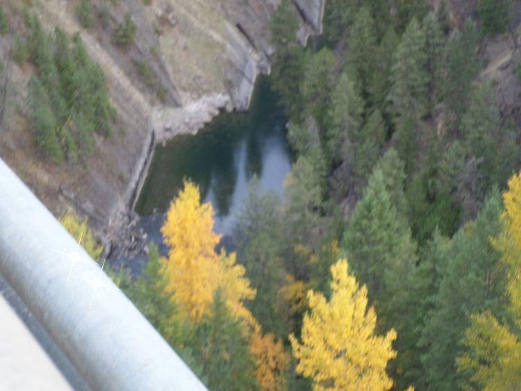 600 plus feet up on the moyie bridge. Crazy high Standing On A Bridge